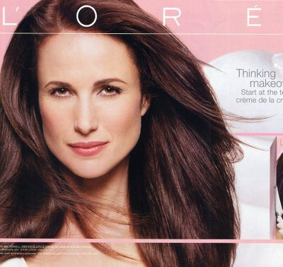 L'oreal Andie Macdowell Hair Color http://cosmicallychic.wordpress.com/2011/04/page/2/